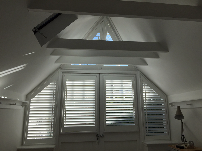 shaped bass wood shutters